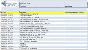 Esempio di filtri del database clienti